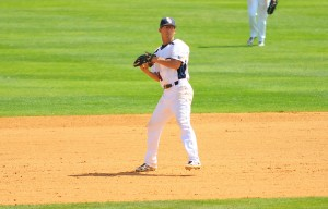 FAU shortstop Mitch Morales boasts a team-leading 35 hits thus far in the 2013 season. Photo by Michelle Friswell