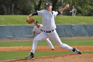 Starting pitcher Austin Gomber managed to strike out six Cincinnati players in the noon game. Photo by Michelle Friswell.