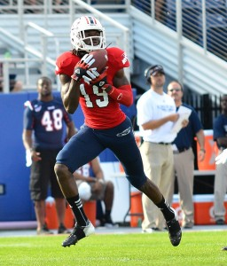 Wide Receiver William Dukes led the Owls last season with 63 catches and 979 receiving yards. Photo by Ryan Murphy.