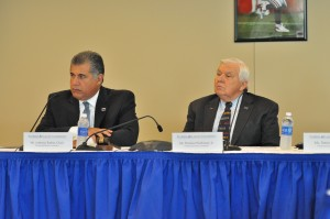 FAU Board of Trustees Chairman Anthony Barbar and Vice-Chairman Thomas Workman. Photo by Michelle Friswell.