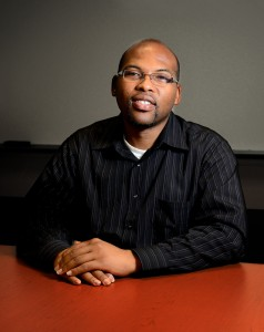 Dr. Deandre Poole, now back at FAU, teaches online classes. Photo by Ryan Murphy