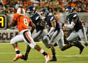 Like with Miami's Duke Johnson, FAU defenders will have their fulls containing Auburn's eighth-ranked rushing attack. Photo by Ryan Murphy.