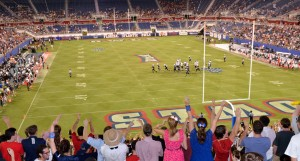Beginning in 2014, FAU Stadium will host the Boca Raton Bowl, an annual contest between teams from the Mid-American Conference, American Athletic Conference, and FAU's conference, Conference-USA. Photo by Ryan Murphy.