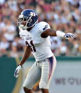 FAU cornerback DJ Smith will try to hold down a pass-happy Marshall offense. The Owls and Thundering Herd square off on Saturday at FAU Stadium. Photo by Ryan Murphy.